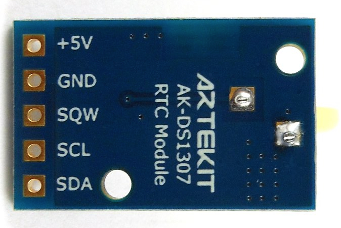 AK-DS1307 board back