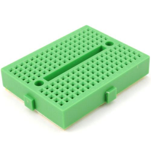 170 Tie points mini breadboard (green)