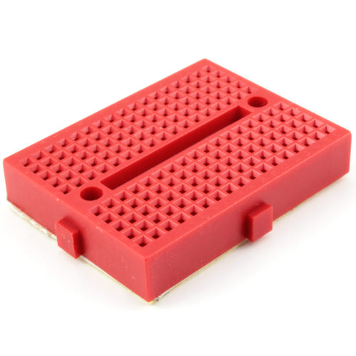 170 Tie points mini breadboard (red)