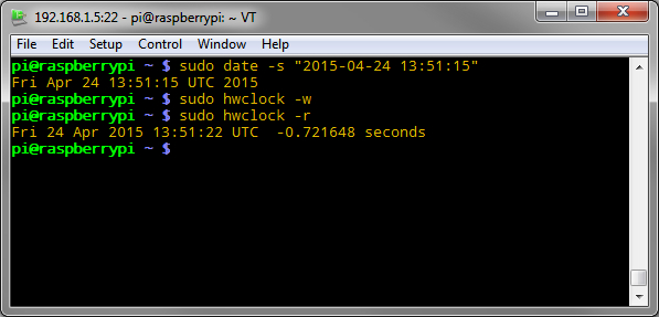 Updating the DS1340 date/time.