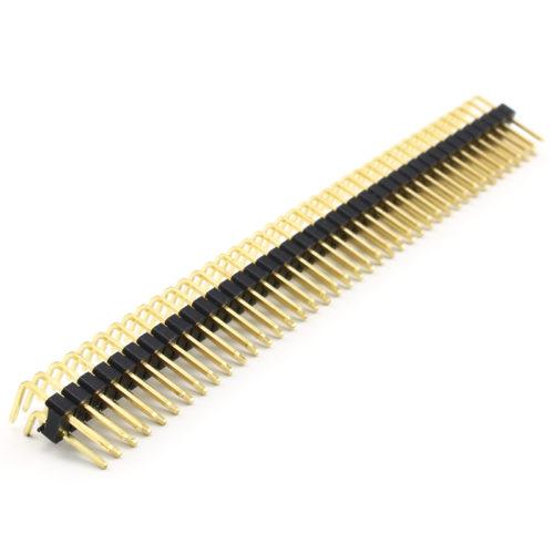 Header Male 2x40 Pins 90º - Black