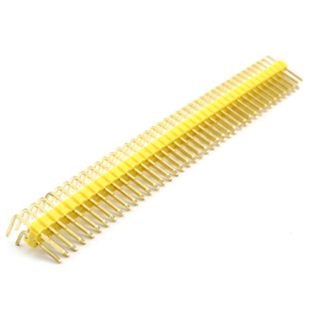 Header Male 2x40 Pins 90º – Yellow