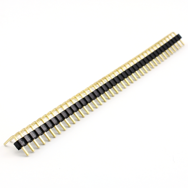 Header Male 40 Pins 90º - Black