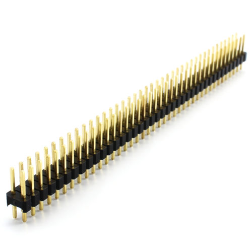 Header Male 2x40 Pins - Black