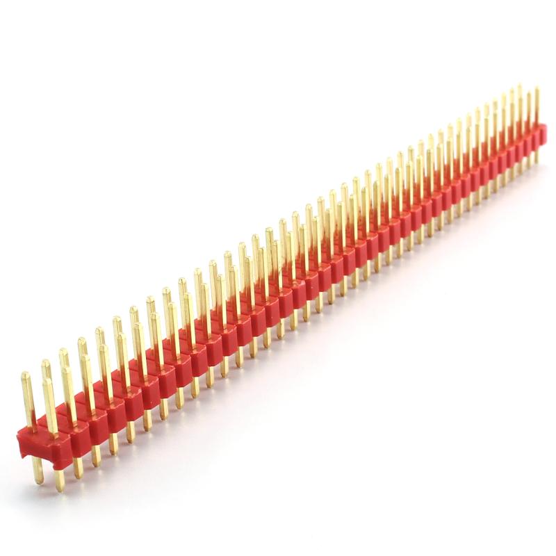 Header Male 2x40 Pins - Red