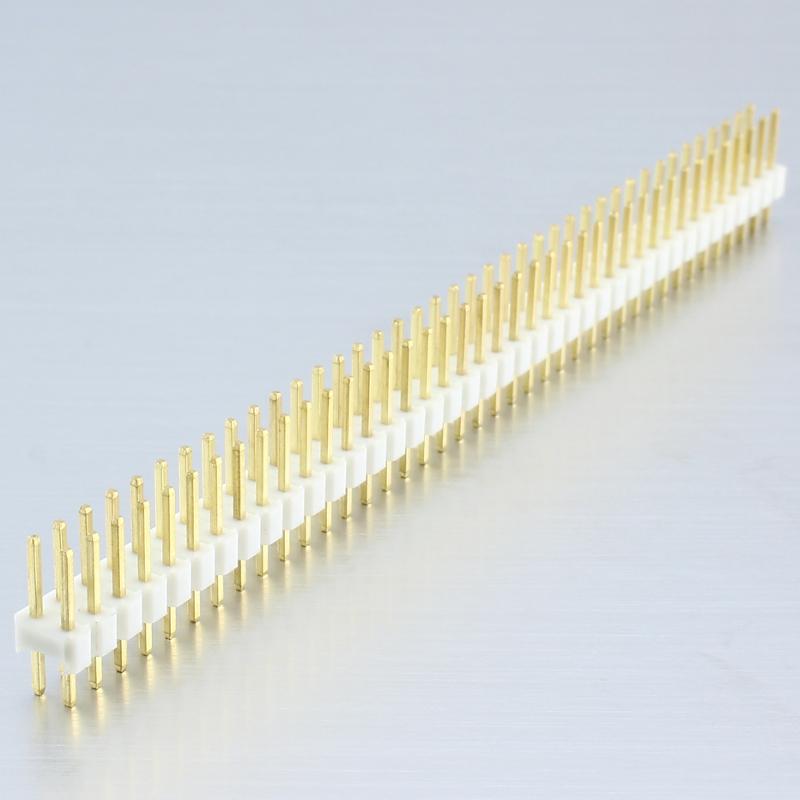 Header Male 2×40 Pins – White