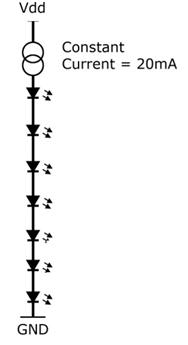 Constant current LED string