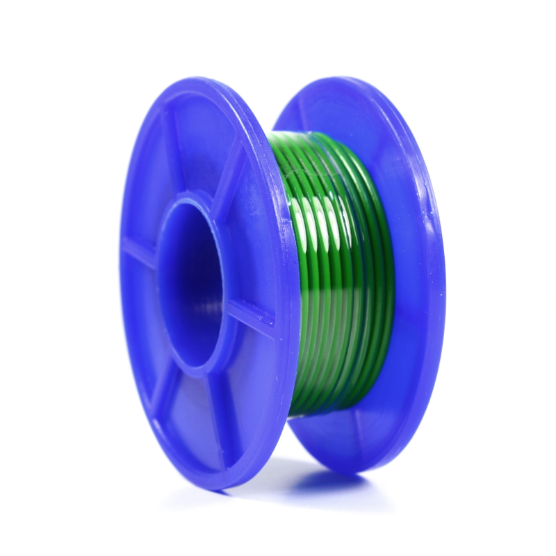 Wire Spool - Stranded - 22 AWG - 5m - Green