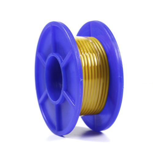 Wire Spool - Stranded - 22 AWG - 5m - Yellow